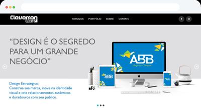 Criação de site para Cleverson Design