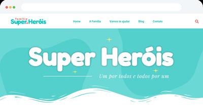 Criação de Blog Profissional para Família de Super Heróis