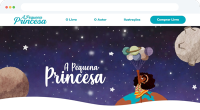 Criação de Site e Loja Virtual A Pequena Princesa