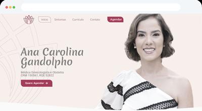 Criação de Site Profissional para Dra. Ana Carolina Gandolpho