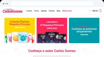 Loja Virtual para o Autor Carlos Gomes