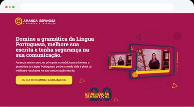 Criação de Página de Vendas para Amanda Espinosa - ABC Sites e Lojas Criar Site, Criar Loja Online, Marketing e Vendas