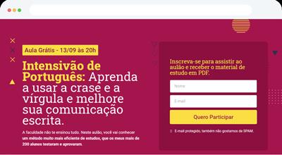 Criação de Página de Captura para Amanda Espinosa - ABC Sites e Lojas Criar Site, Criar Loja Online, Marketing e Vendas