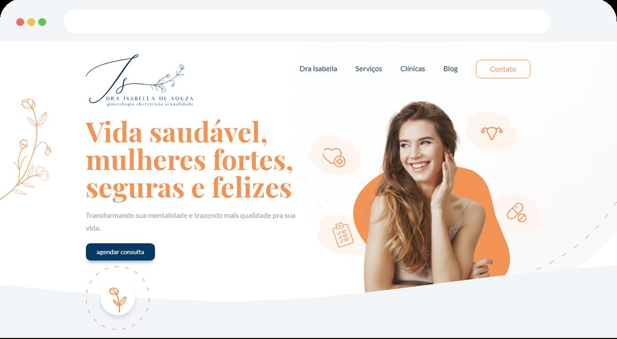 Criação de Site Profissional para Dra Isabella de Souza