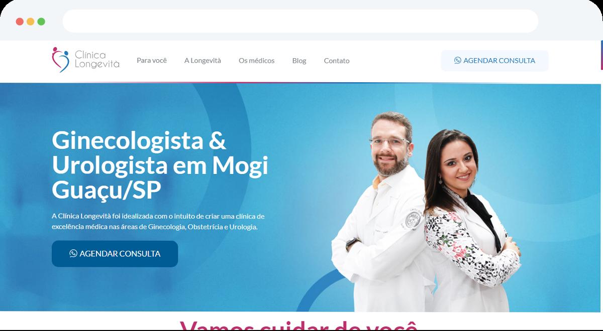 Criação de site para a clínica Longevità