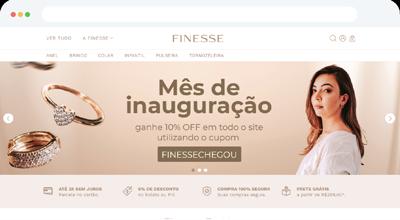 Criação de E-commerce para Finesse Joias